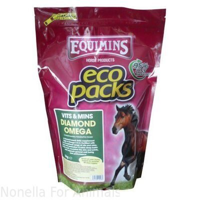 Equimins Diamond Omega - Micronised Linseed Supplement Eco Pack, 2 kg