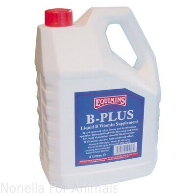 Equimins B-Plus Liquid B Vitamin Supplement bottle, 4 litre