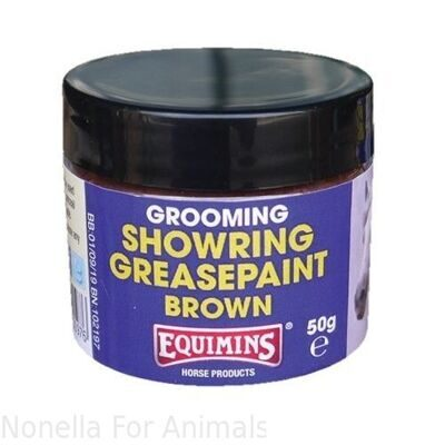 Equimins Showring Grease Paint Brown tub, 50 g
