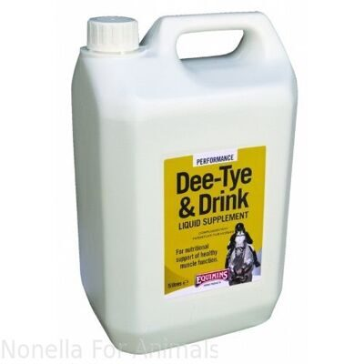 Equimins Dee-Tye & Drink Liquid Supplement jerrycan, 5 litre