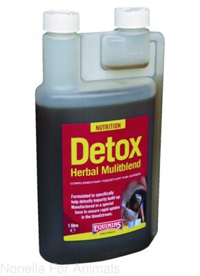 Equimins Old Horse Detox Liquid Herbal Tincture bottle, 1 litre