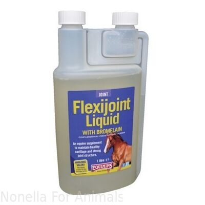 Equimins Flexijoint Liquid with Bromelain bottle, 1 litre