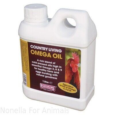 Equimins Country Living Omega Oil bottle, 1 litre