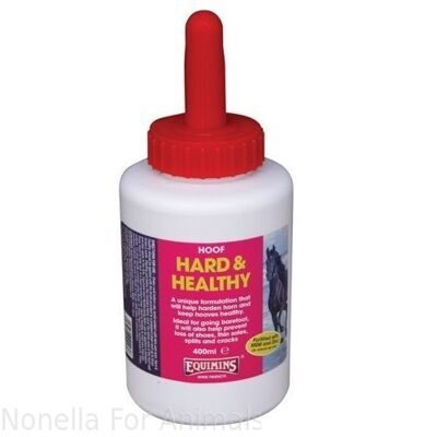 Equimins Hard & Healthy (Hoof Hardener) bottle, 400 ml