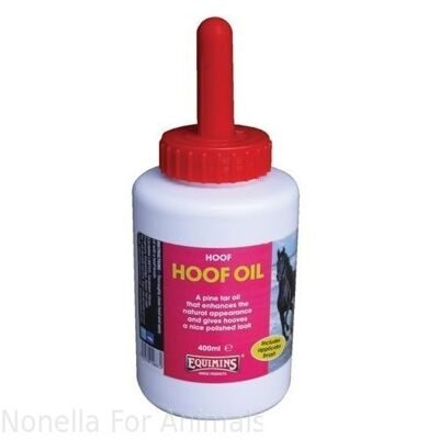 Equimins Hoof Oil - Brush on bottle, 400 ml