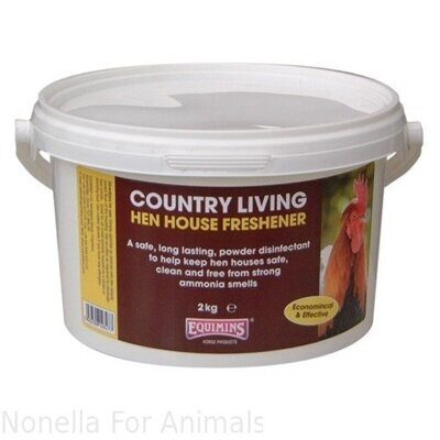 Equimins Country Living Hen House Freshener - Dry Disinfectant Powder tub, 2 kg