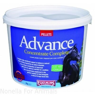 Equimins Advance Concentrate Complete Pellets tub, 2 kg