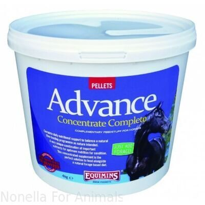 Equimins Advance Concentrate Complete Pellets tub, 4 kg