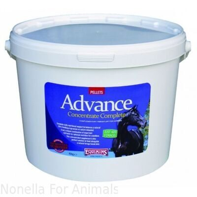 Equimins Advance Concentrate Complete Pellets tub, 10 kg
