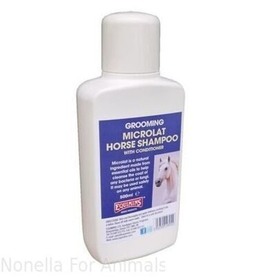 Equimins Microlat Horse Shampoo bottle, 500 ml