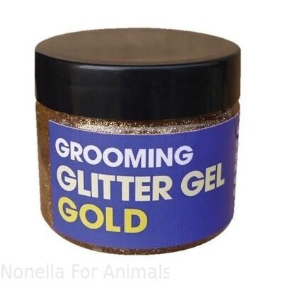 Equimins Glitter Gel Gold tub, 60 g