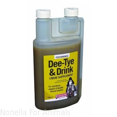 Equimins Dee-Tye & Drink Liquid Supplement bottle, 1 litre