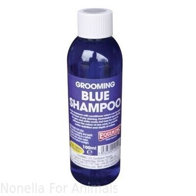 Equimins Blue Shampoo for Grey Horses Trial Size Bottle, 100 ml