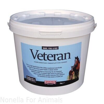 Equimins Veteran Vits & Mins Supplement tub, 5 kg
