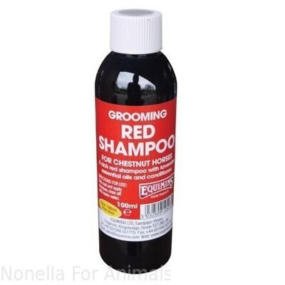Equimins Red Shampoo for Chestnuts Trial Size bottle, 100 ml