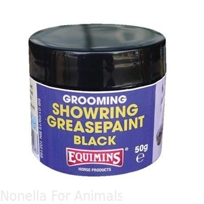 Equimins Showring Grease Paint Black tub, 50 g