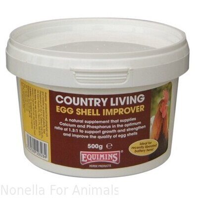 Equimins Country Living Egg Shell Improver tub, 1 kg